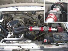 Ram Air Intake Kit + RED Filter For 94-96 Ford F150 Bronco 5.0L 5.8L V8 w/MAF