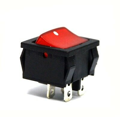 All Black Rocker Switch 4P DPST 10A 6A250 No-Lamp JEC JS-606P-A Brand New!