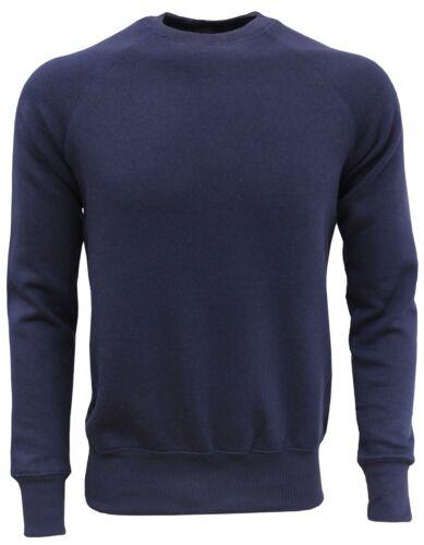 Mens Boys Plain Premium Fleece Sweatshirts Sports Jumper Jogging Sweat Top
