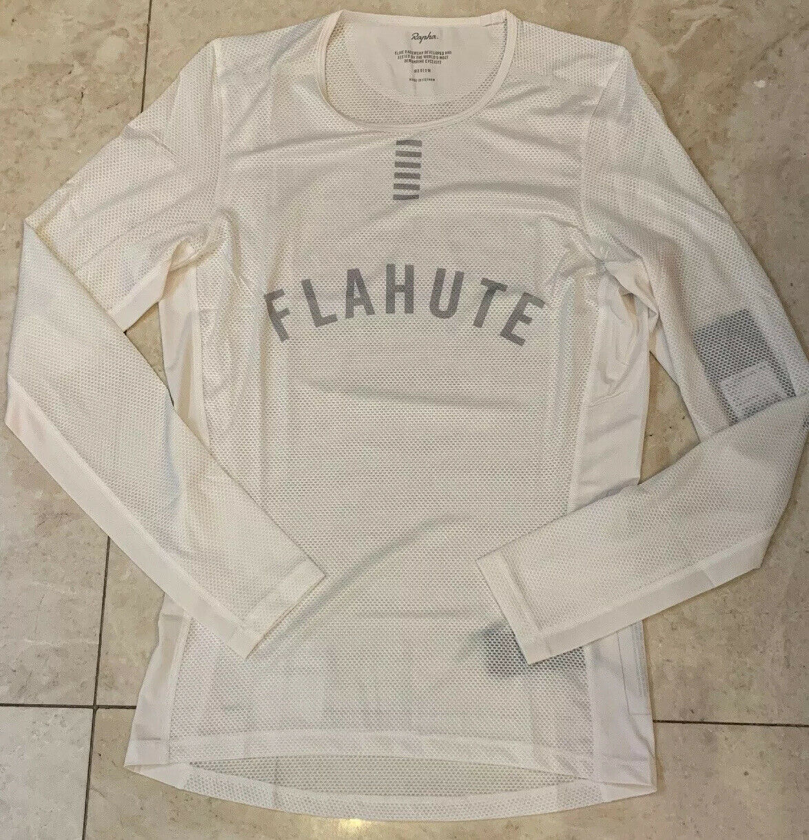 Rapha Pro Team Base Layer Long Sleeve White Size Large Brand New With Tag