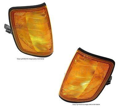 For Mercedes W124 OEM Turn Signal Light Assy L+R x2 Corner Blinker Lamp Lens