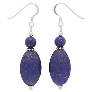 Ohrringe-Ohrhaenger-aus-echtem-Lapis-Lazuli-amp-925-Silber-blau-Ohrschmuck-Damen