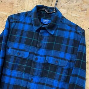 ADIDAS-ORIGINALS-LONG-SLEEVE-CHECK-FLANNEL-SHIRT-BLUE-SKATEBOARDING-SZ-32-34-XS