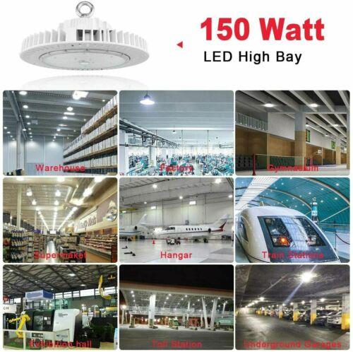 LED High Bay Light 150W Watt Warehouse Factory Shop Work Lamp Bulb Fixture UFO