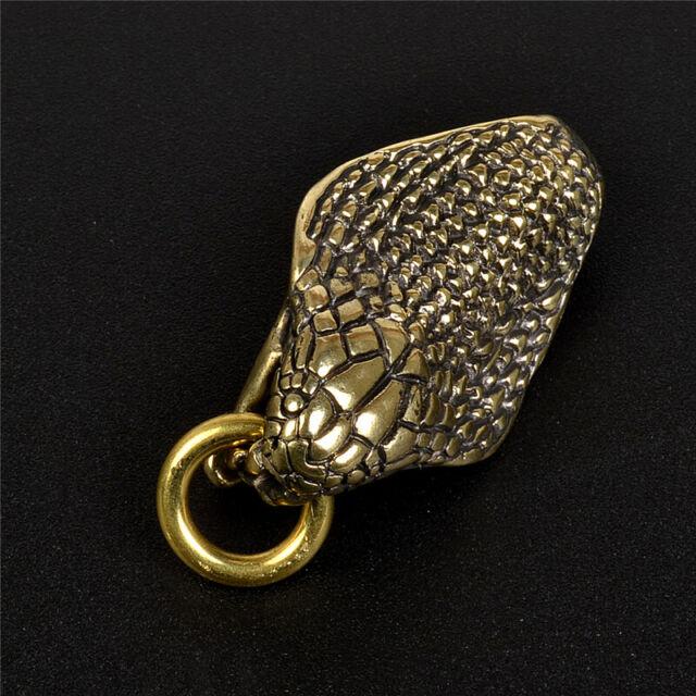 New Men Belt Clip Buckle Vintage Brass Cobra Gold Keychain Key Ring Holder  Hook
