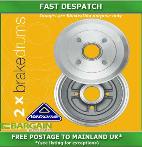 REAR BRAKE DRUMS FOR VAUXHALL CORSA 1.0 11//1996-09//2000 2845