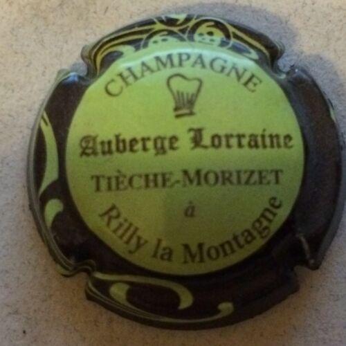 12b. vert pâle ctr marron Capsule de champagne TIECHE-MORIZET Auberge Lorraine