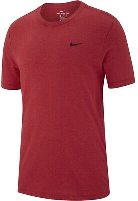 Red Nike Men/'s Dri-fit Training T-Shirt Size L NEW with tag AR6029-622 Large