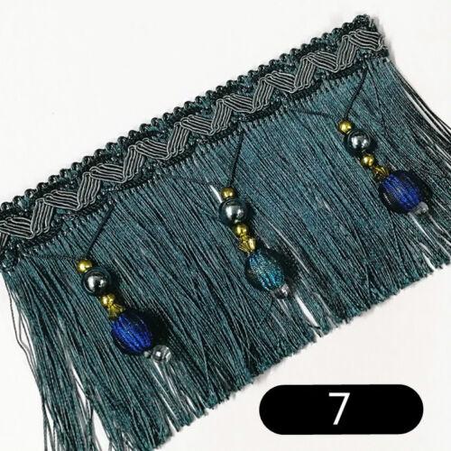 Curtain Tassel Sewing Bead Fringe Trim Wedding Upholstery Fabric Ribbon DIY Home