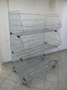 Stapelkorb-KKF-Wanzl-Wuehl-Gitter-Lager-Draht-Korb-Wuehltisch-Schuette
