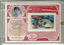 2005 Leaf Century Collection Baseball Lou Boudreau Jersey Stamp Card # 10/92