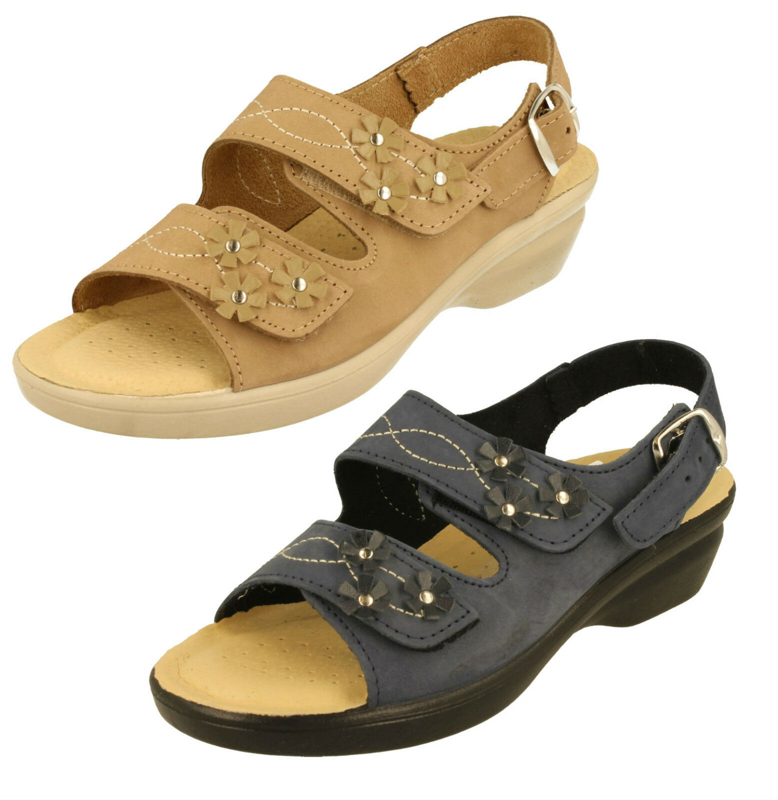 Último gran descuento Padders E Wide Fitting Adjustable Sandals - Bluebell