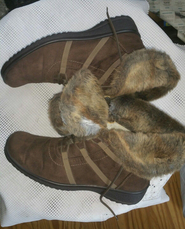 Top ARA Goretex Hiver chaussures bottes bottes D'hiver marron Taille 42,5