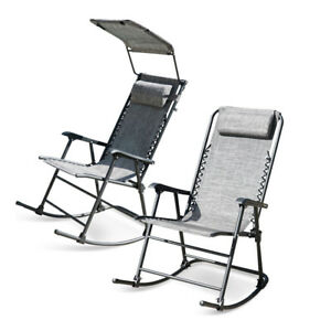 Brilliant Details About Foldable Zero Gravity Rocking Patio Lounge Recliner Outdoor Garden Chair Gray Ncnpc Chair Design For Home Ncnpcorg