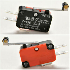 2 PCS Micro Switch Spdt Hinge Roller Lever 15A V-156-1C25 Nice UK FI
