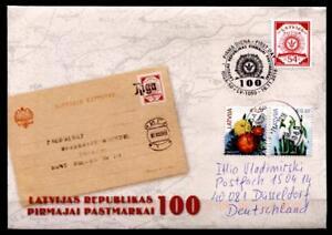 100j. Première lettone timbres. FDC-Lettre après BRD. Lettonie 2018-afficher le titre d`origine q5G9rKDW-07142821-903365476