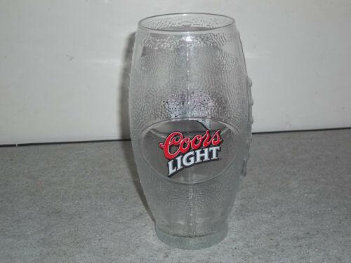 "UNIQUE COORS LIGHT FOOTBALL SHAPE BEER GLASS FOOTBALL 6 1//2/"" TALL NICE L@@k"