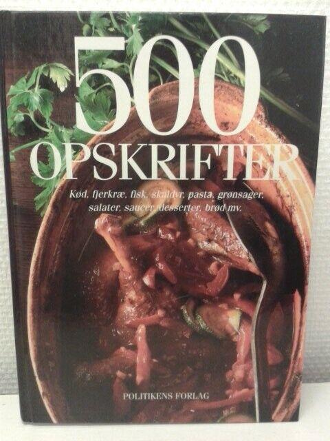 500 opskrifter , emne: mad og vin