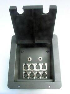 ProCraft-Pro-Audio-Recessed-Black-Stage-Floor-Pocket-Box-8-XLR-Channels-2-1-4-034