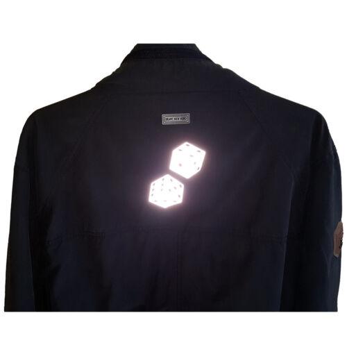reflektierender Aufbügler für Kleidung 5 /& 4,5 cm Würfel Bügelbild Reflektor