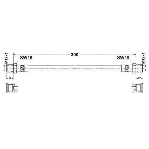 Pneumatico 300 mm MERCEDES-BENZ UNIMOG u54 u65 u70 u90 u110 u140 u300 u800