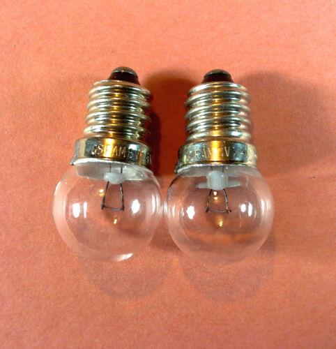 OVP a 2,4 W 2 OSRAM Fahrradgluehlampen vorne 6 V E10 Gewindesockel