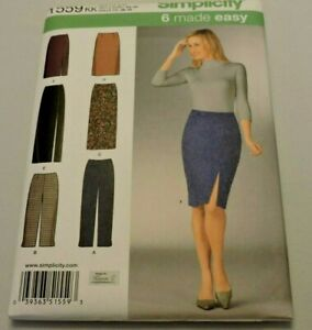 Simplicity-Sewing-Pattern-1559-Misses-Career-Slim-Pants-Pencil-Skirt-Sz-8-14-New