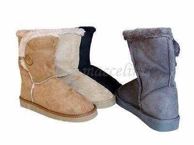 Neu Damen Stiefel Winter Schuhe Boots Stiefeletten Futter 90-3 Lederoptik 36-41