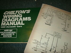 1989 Lincoln Town Car Wiring Diagrams Schematics Manual Sheets Set