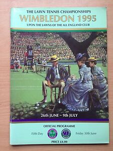 1995 Wimbledon Tennis Championship Programme  Day 5 Friday 30th June 1995 - <span itemprop='availableAtOrFrom'>Cyffylliog, Ruthin, United Kingdom</span> - 1995 Wimbledon Tennis Championship Programme  Day 5 Friday 30th June 1995 - Cyffylliog, Ruthin, United Kingdom