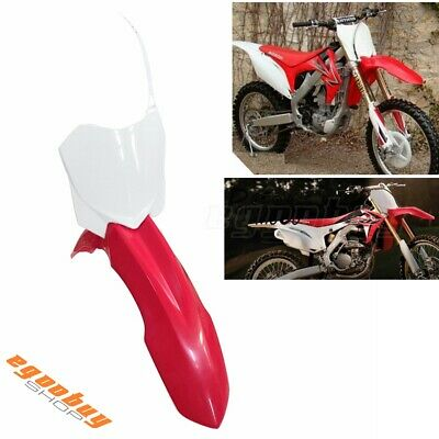 Polisport Front Number Plate White HONDA CRF450R 2009-2012 CRF250R 2010-2013