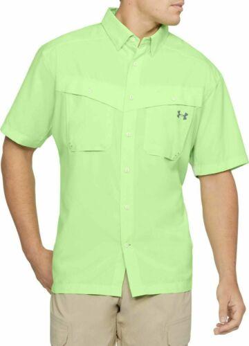 Under Armour Men/'s UA Tide Chaser Short Sleeve Fishing Shirt Lime XL /& 2XL $50