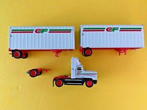Tonkin Consolidated Freightways CF Tandem Semi Truck Die Cast