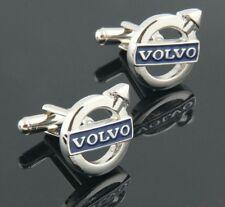 Volvo Silver Blue Cufflinks