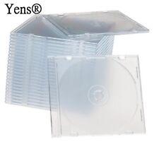 Yens® 50 New Clear Single Slim CD DVD Jewel Case 5.2mm 50#5CCD