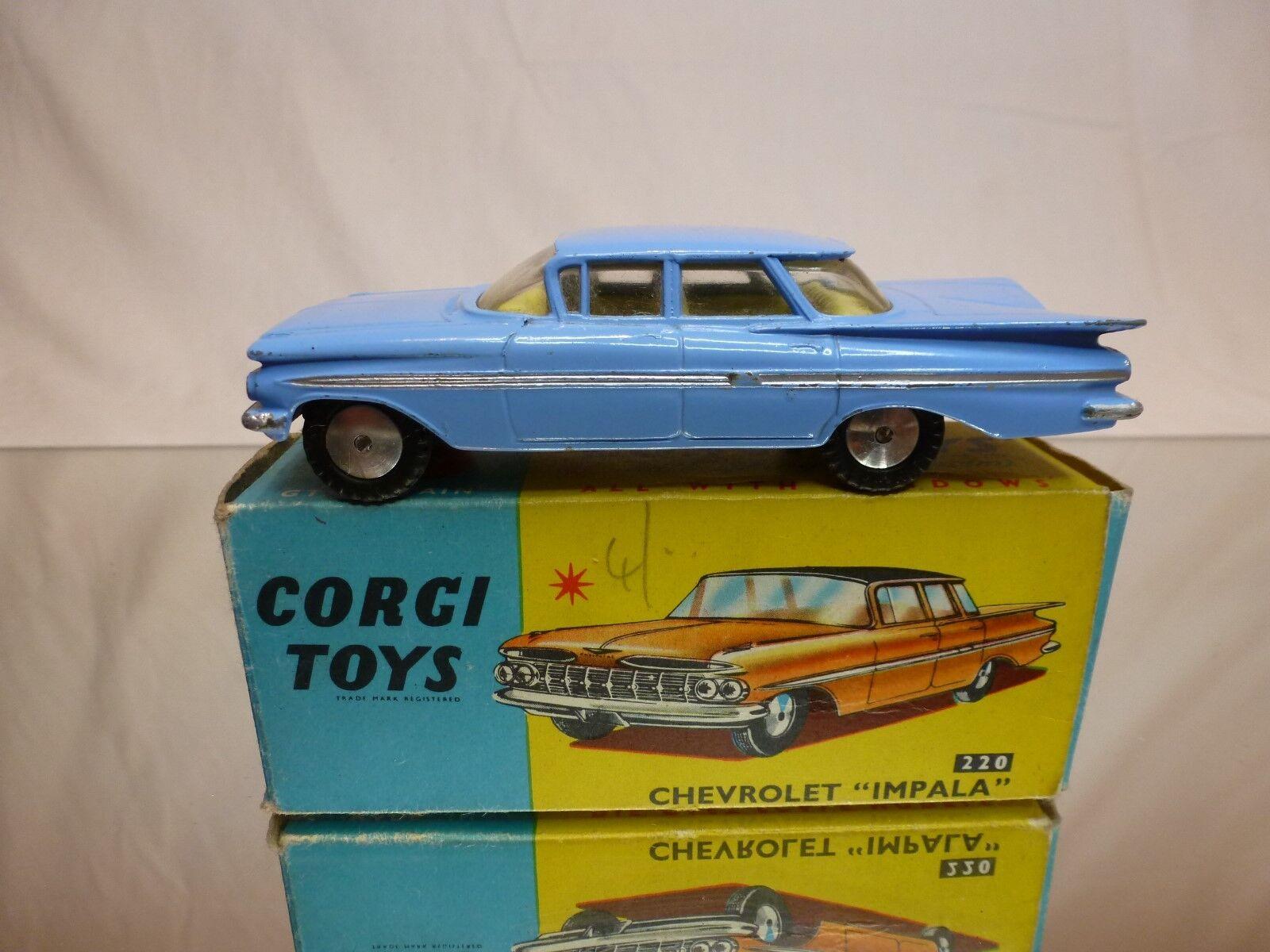 Corgi spielzeug 220 chevrolet impala... - - in der nähe von mint contition im kasten