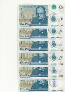 new uncirculates 5 polymer plastic consecutive notes - <span itemprop=availableAtOrFrom>Romford, United Kingdom</span> - new uncirculates 5 polymer plastic consecutive notes - Romford, United Kingdom