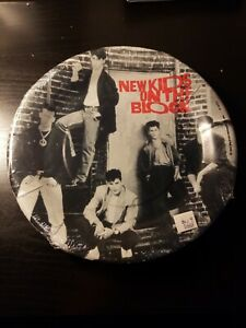 NEW-KIDS-ON-THE-BLOCK-VINTAGE-1989-LARGE-PAPER-PLATES-8-Birthday-Supplies