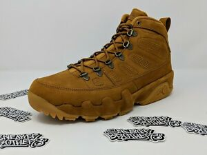 2a9c8f6c7c8 Nike Air Jordan Retro IX 9 NRG Boot Wheat Baroque Brown Beige AR4491 ...