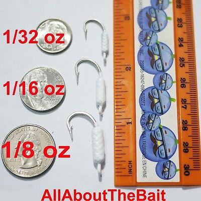 Lot de 50-1//8 oz-CHARTREUSE-limande Snapper Jigs-Mustad Saltwater Crochet