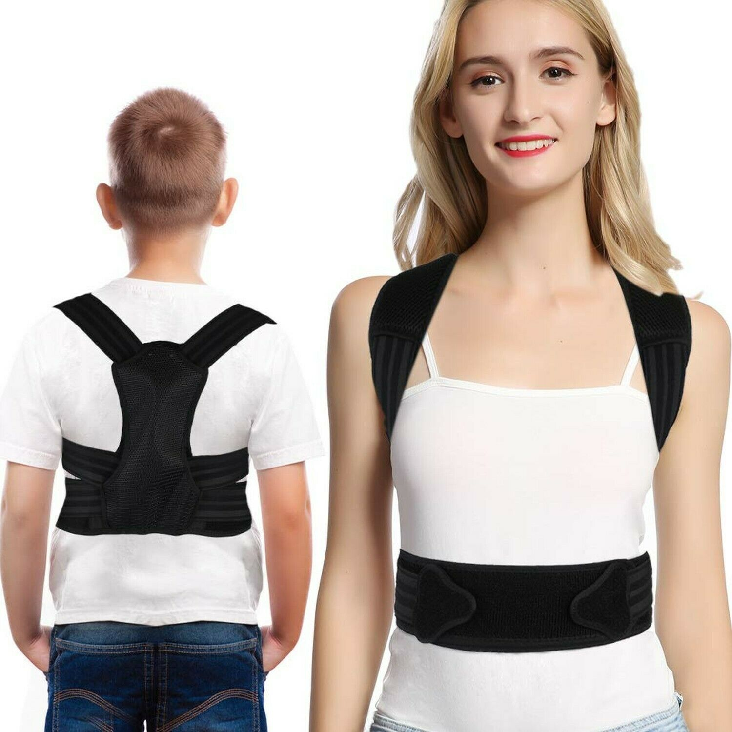 DOACT Back Posture Corrector Brace Under Clothes for Kids an