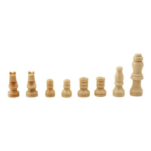 Chess Wooden Set Chessboard Pieces Wood Board Backgammon Game LP