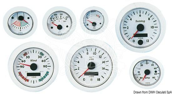 OSCULATI Drehzahlmesser 0-4000 12V Umin 12V 0-4000 7e04e5