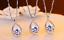 925 Sterling Silver Micro-inlay 1.5 Ct Cubic Zirconia Rain Drop Pendant Necklace
