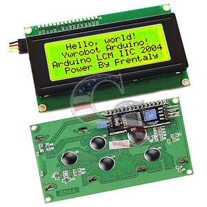 Yellow-Serial-IIC-I2C-TWI-2004-204-20X4-Character-LCD-Module-Display-For-Arduino