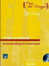 Hueber FIT FURS ZERTIFIKAT B1 Deutschprufung fur Erwachsene MIT 2 Cds @NEW@