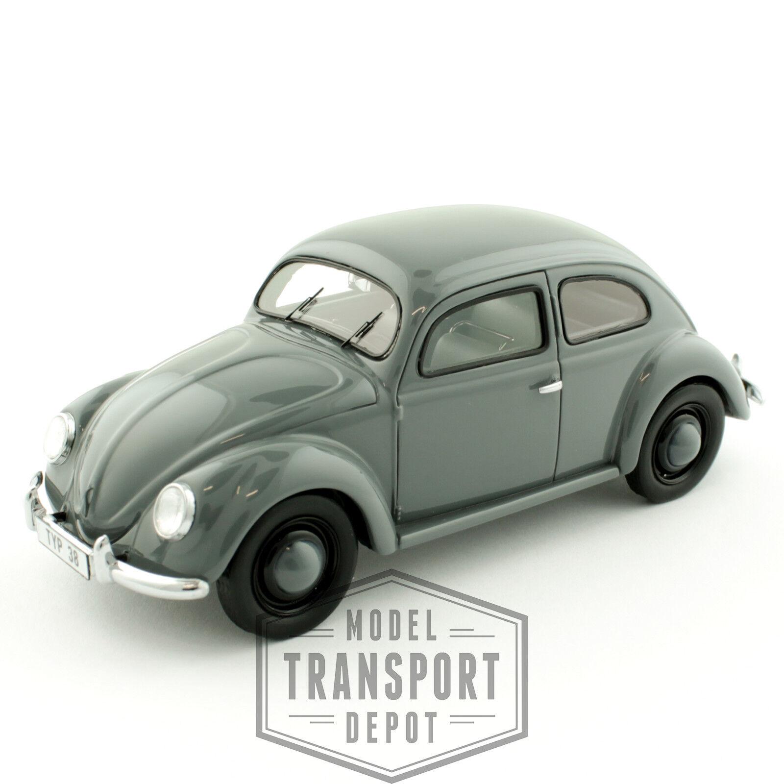 Schuco Volkswagen Beetle Typ 38 grigio Edición Limitada Die Cast Escala Modelo 1 43