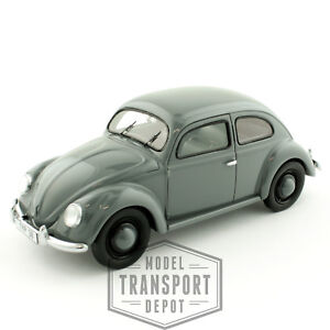 Schuco-Volkswagen-Beetle-Typ-38-Grey-Limited-Edition-Die-Cast-Scale-Model-1-43