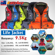 Adult Adjustable Buoyancy Aid Sailing Fishing Kayak Life Jacket Vest Preservers