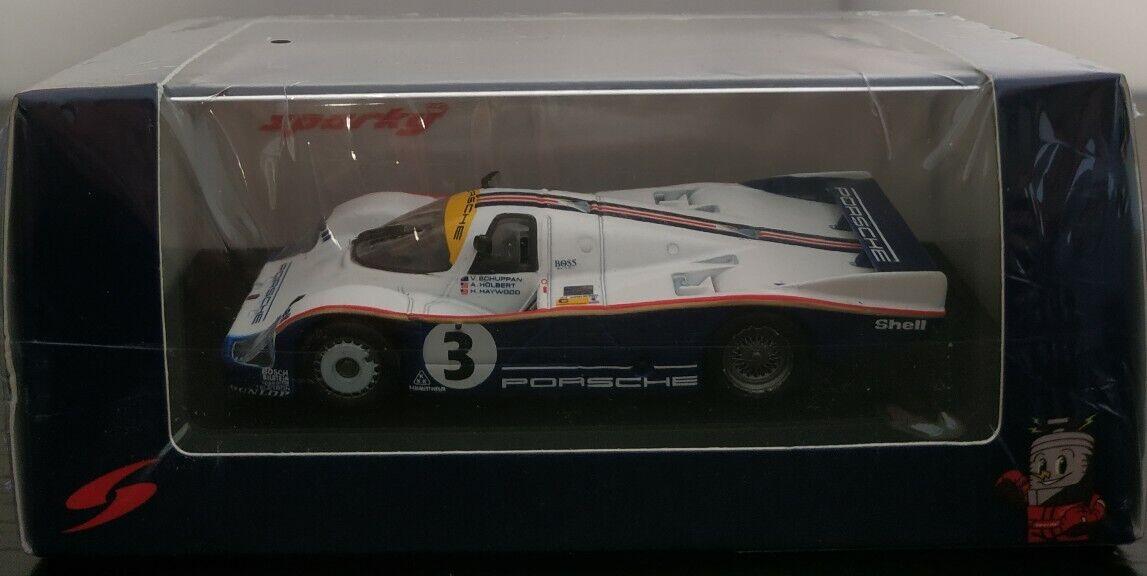 1 64 PORSCHE 956 3 LEMANS 1983 HOLBERT HAYWOOD SCHUPPAN SPARK ESCALA DIE CAST